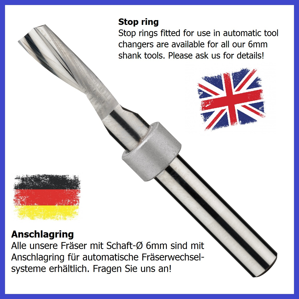 Stop ring for router bits